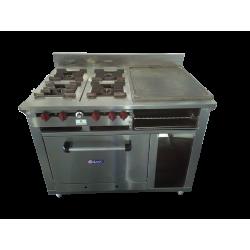 Cocina 4 hornillas, plancha...