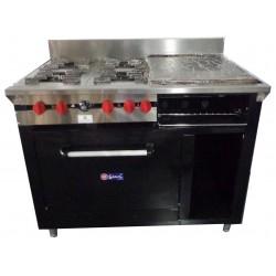 Cocina a gas , 4 hornillas,...