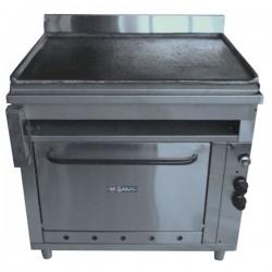 Plancha y horno en acero